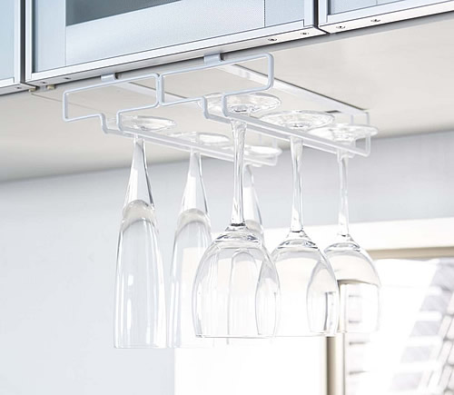 Under Shelf Wine Glass Holder - Tidy Kitchen Organisation ...