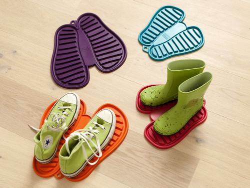 Flexible rubber shoe & boot drip dry mat - Sannishoo