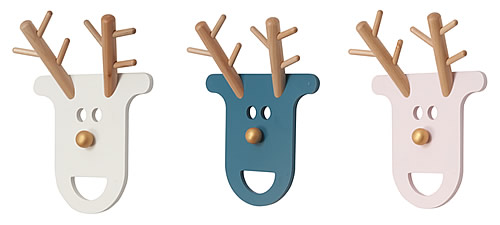 MDF and beech wood O Deer kid's coat rack