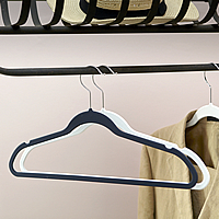 Set of 3 Rubberised Coated Hangers