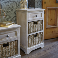 Storage Unit with Seagrass Baskets - Classic