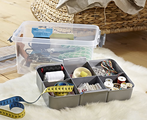 Multi purpose 6 litre storage box with clip close lid