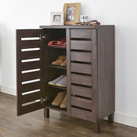 Slatted Shoe Storage Cabinet