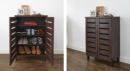 Slatted Shoe Storage Cabinet