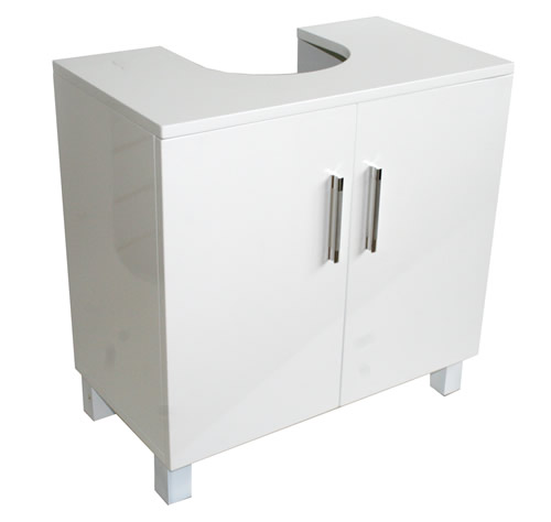 Garage Sink Unit : Place our new high gloss white unit with doors around your sink to ...