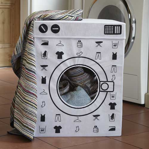 folding washing machine laundry bin