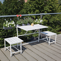 Compact Converting Bench & Table Set - MyBalconia