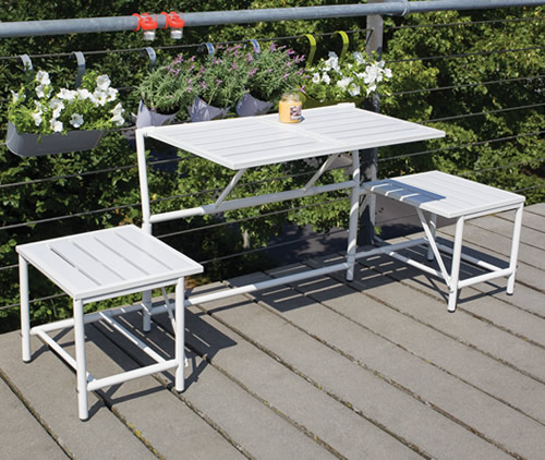 Converting garden bench and table - MyBalconia