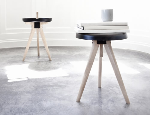 Flip around stool and table from menu