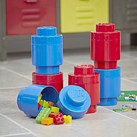Giant LEGO Storage Blocks - Blue & Red Round Bundle