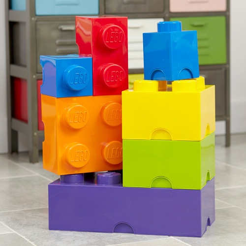 Giant LEGO storage blocks - vibrant colours bundle