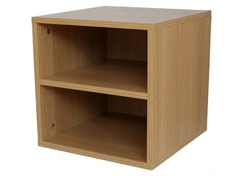 modular wooden storage cubes