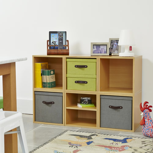 Living Room Modular Storage Cubes With Removable Lidded Cubes