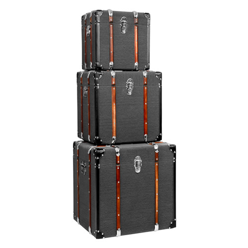 Set of 3 storage trunks - Bergman