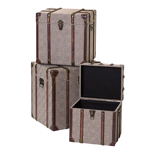 Set of 3 storage trunks - Winston