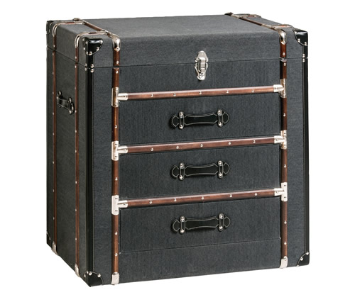 3 drawer storage cabinet - Bergman travel trunk