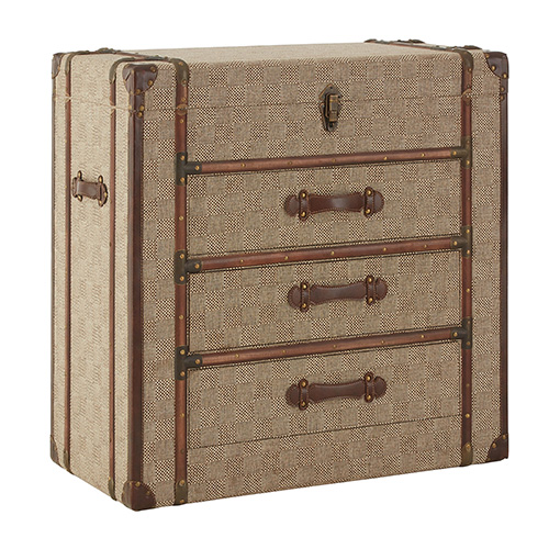 3 drawer storage cabinet - Winston travel trunk