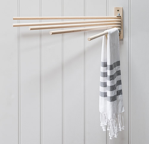 Wall mounted vintage dryer in Beech