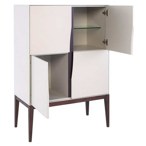 Tall sideboard with 4 storage compartments - Lux Gillmore Space