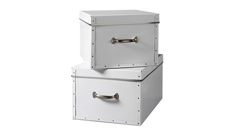Glossy White Storage Boxes