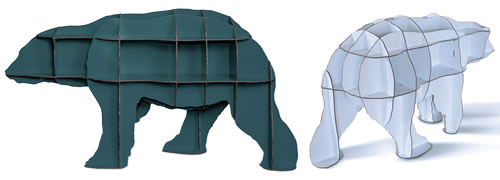 Bear shaped bookcase - Mobilier De Compagnie  Ibride