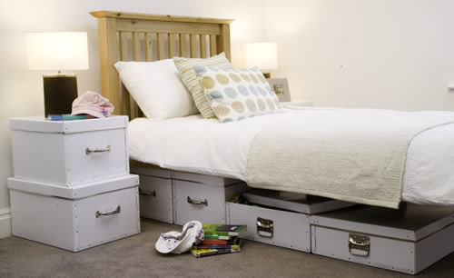Set of Two Under Bed Storage Boxes