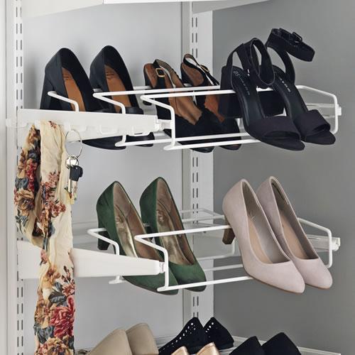 Elfa triple gliding shoe rack - 45cm wide