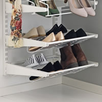 Elfa Gliding Shoe Shelf 45cm - White