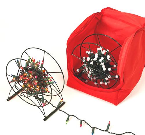 Set of 2 Christmas light storage reels and Christmas fairt light storage bag