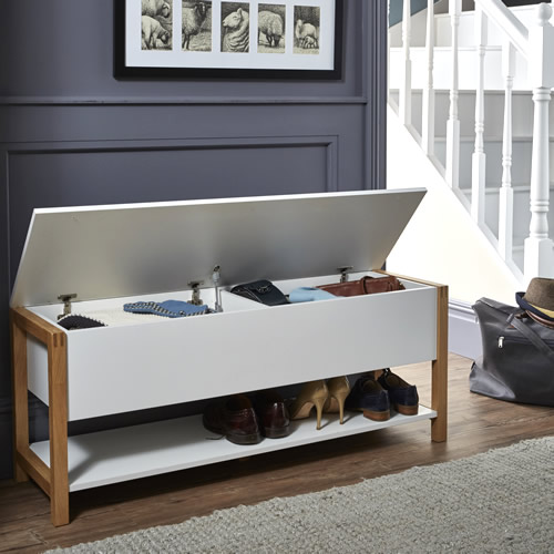 Northgate Flip Top Storage Bench Oak Store Furniture