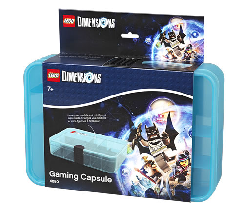 LEGO Dimensions Gaming Capsule storage box to store mini figures and other characters.