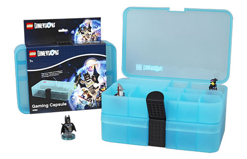 Display case to store your LEGO Dimensions minifigures which neatly stacks as shown