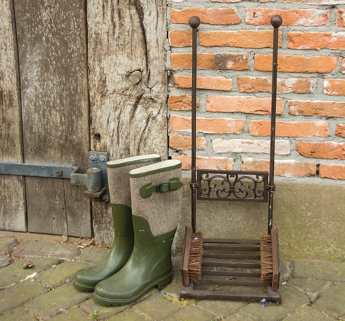 Boot Rack with Scraper & Brushes