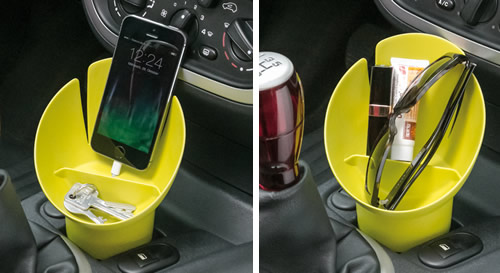 Cup holder storage pot - cockpit manager