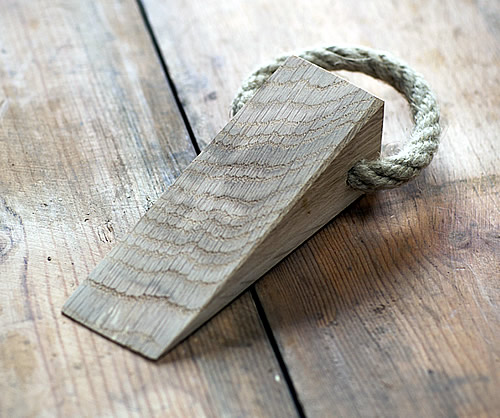 Raw Oak Door Wedge