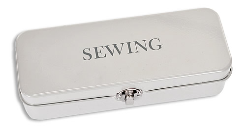 Sewing accessories tin in powder coated steel