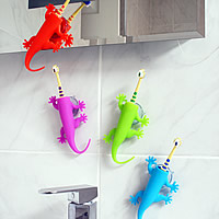 Kids Suction Toothbrush Holder - Lizard