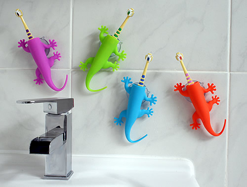 Silicone suction toothbrush holder