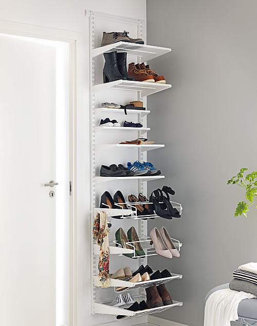 elfa shelving shoe storage solution 45cm wide