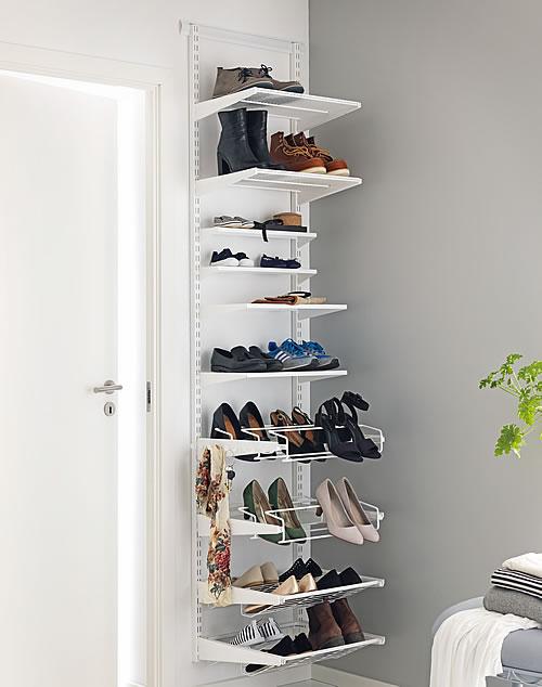 elfa shelving shoe storage solution 45cm wide