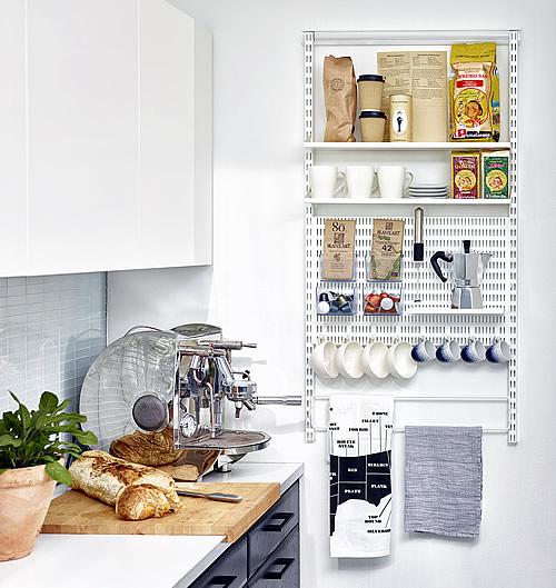 elfa shelving kitchen storage