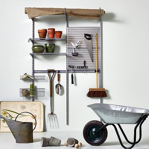 elfa garage shelving solution