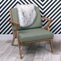 Solid Oak Retro Arm Chair