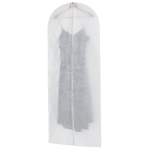 Extra long garment cover in white