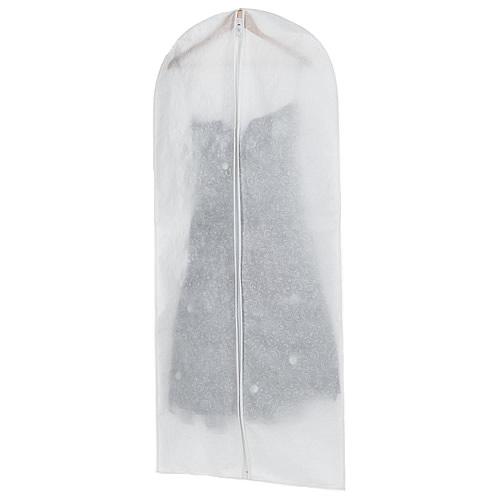 Non-woven white fabric long garment cover