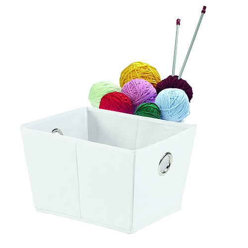 white non-woven fabric foldable storage box