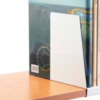 Elfa Book Supports for Melamine Shelf