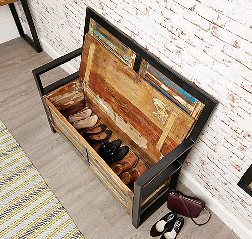 Shoe storage bench - Urban chic