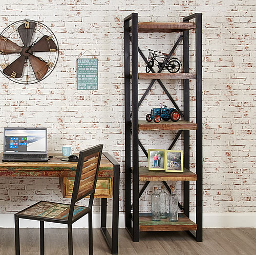 Reclaimed wooden bookcase - Urban Chic