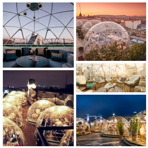 The Garden Igloo has been used in many locations across the world in homes, restaurants and rooftop bars